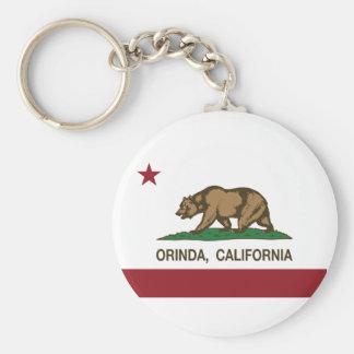 Bandera Orinda de la república de California Llavero Redondo Tipo Pin