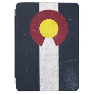 Bandera oscura del Grunge de Colorado Cubierta De iPad Air