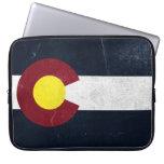 Bandera oscura del Grunge de Colorado Funda Portátil
