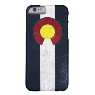 Bandera oscura del Grunge de Colorado Funda Para iPhone 6 Barely There