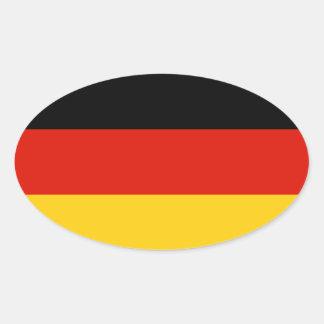 Bandera oval del pegatina el | de la bandera