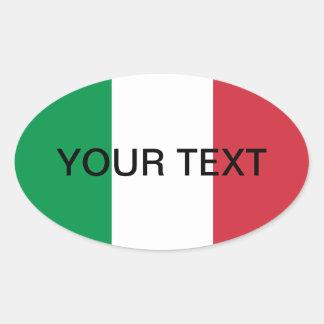 Bandera oval del pegatina el de la bandera itali