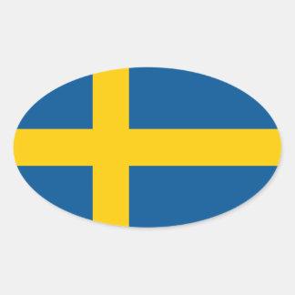 Bandera oval del pegatina el | del coche de la