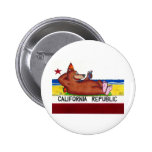 Bandera oxidada del oso de California Pins