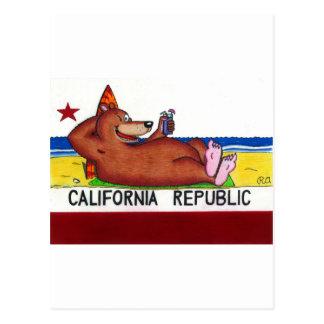 Bandera oxidada del oso de California Postales