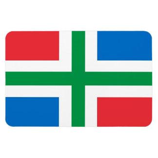 Bandera Países Bajos de Groninga país-región Imán De Vinilo