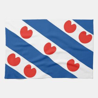 Bandera Países Bajos del frisian de Frisia país-re Toallas