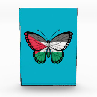 Bandera palestina de la mariposa
