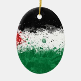 bandera palestina ornamento de navidad