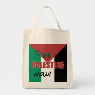 Bandera palestina libre de Palestina ahora Bolsa Tela Para La Compra