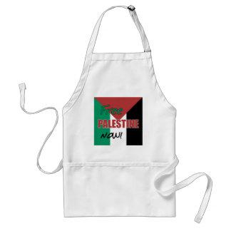 Bandera palestina libre de Palestina ahora Delantal