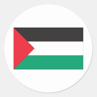 Bandera palestina pegatina redonda