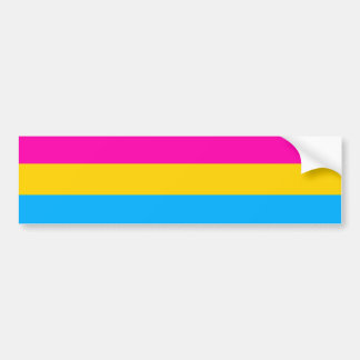 Bandera Pansexual del orgullo Etiqueta De Parachoque