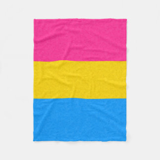 Bandera Pansexual del orgullo Manta De Forro Polar
