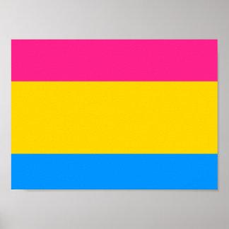 Bandera Pansexual del orgullo Posters