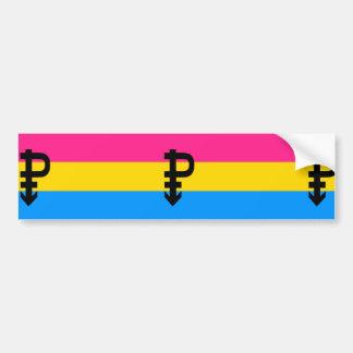 Bandera Pansexual del orgullo Pegatina Para Auto