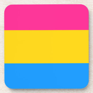 Bandera Pansexual del orgullo Posavasos De Bebida