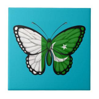Bandera paquistaní de la mariposa azulejos