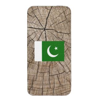 Bandera paquistaní en corteza de árbol funda para iPhone 5