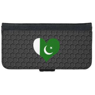 Bandera paquistaní moderna funda cartera para iPhone 6