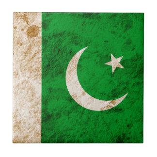 Bandera paquistaní rugosa azulejos ceramicos