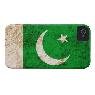 Bandera paquistaní rugosa iPhone 4 Case-Mate fundas