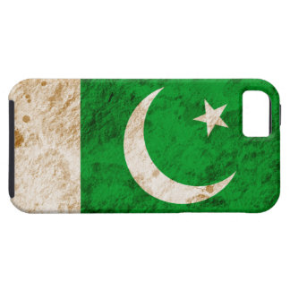 Bandera paquistaní rugosa iPhone 5 fundas