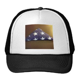 Bandera para un héroe caido - estrellas del azul y gorra