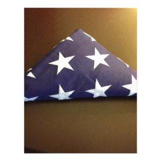 Bandera para un héroe caido - estrellas del azul y membrete personalizado