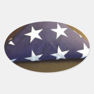 Bandera para un héroe caido - estrellas del azul y calcomanías de ovales