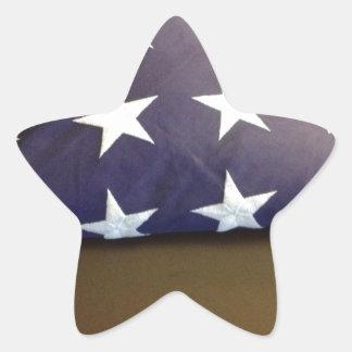 Bandera para un héroe caido - estrellas del azul y pegatinas forma de estrella