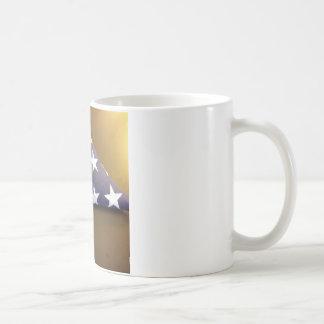 Bandera para un héroe caido - estrellas del azul y tazas