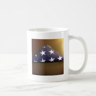 Bandera para un héroe caido - estrellas del azul y taza