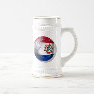 Bandera paraguaya de la bola de Paraguay de los re Taza De Café