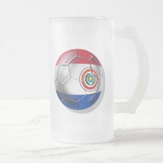 Bandera paraguaya de la bola de Paraguay de los re Tazas De Café