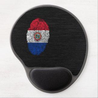 Bandera paraguaya de la huella dactilar del tacto alfombrillas de raton con gel