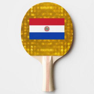Bandera paraguaya oficial pala de tenis de mesa