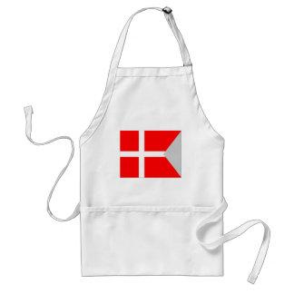 Bandera partida de Dinamarca Delantal