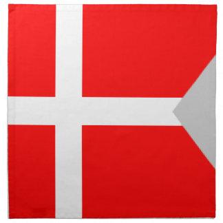 Bandera partida de Dinamarca Servilleta Imprimida