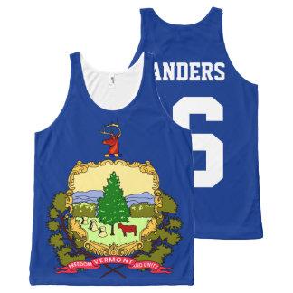 Bandera patriótica 2016 del estado de Vermont de Camiseta De Tirantes Con Estampado Integral