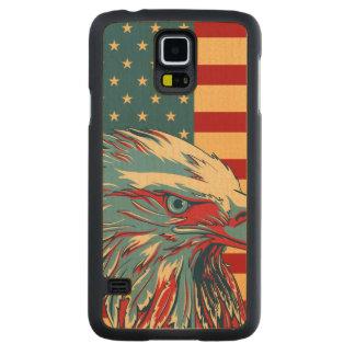 Bandera patriótica americana de Eagle Funda De Galaxy S5 Slim Arce