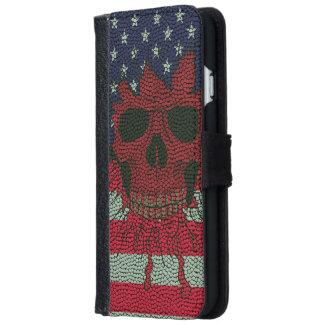 Bandera patriótica americana de la piel de la bola carcasa de iPhone 6