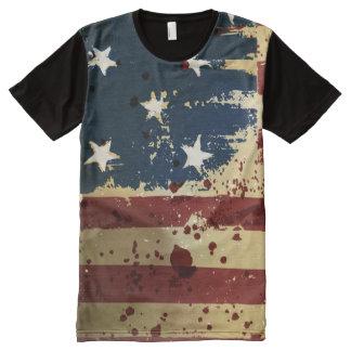Bandera patriótica americana del Grunge