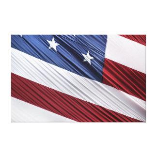 Bandera patriótica americana del rojo de los impresión en lienzo estirada