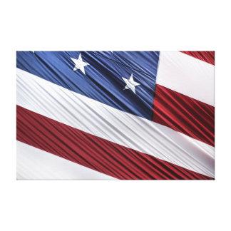 Bandera patriótica americana del rojo de los lona estirada galerias