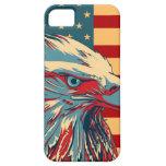 Bandera patriótica americana retra de Eagle iPhone 5 Case-Mate Cobertura