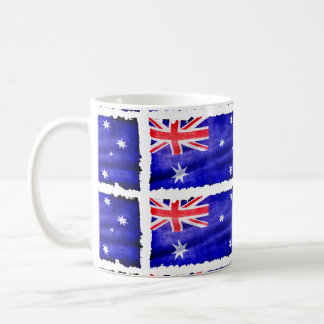 Bandera patriótica australiana de Australia para Taza Básica Blanca