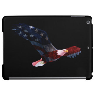 Bandera patriótica de Eagle calvo