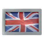 Bandera patriótica de Gran Bretaña, Union Jack, Hebilla Cinturon Rectangular