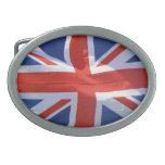 Bandera patriótica de Gran Bretaña, Union Jack, Hebillas De Cinturón Ovales